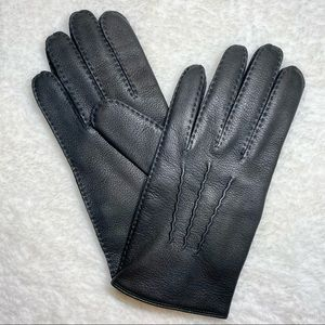 Coach Men's Winter Leather Glove w/Cashmere lining